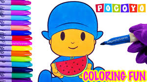 pocoyo coloring fun pocoyo coloring activity kids