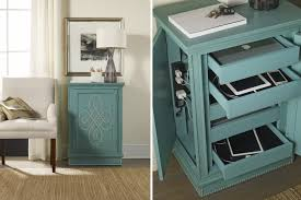 bedroom nightstand nailhead nightstand port charging station