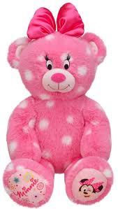 new build a bear minnie mouse polka dot pink teddy 16 inch stuffed