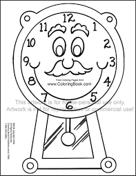 grandfather clock coloring page coloring pages ideas