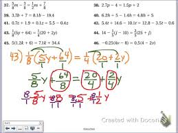 common core math solving multi step equations distributive