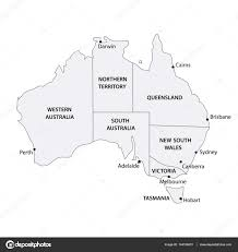Map With States by Australia Map With States And Cities U2014 Stock Vector Mark86