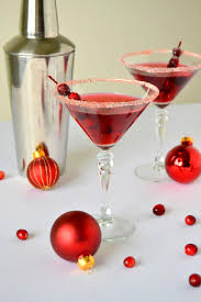 Frosted Cranberry Martinis