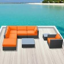 All Weather Wicker Patio Furniture Sets Orange Patio Furniture Sets Foter
