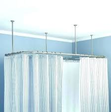 Shower Curtain Tracks Curved Ceiling Curtain Track Ceiling Shower Curtain Track Shower