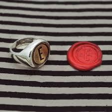 custom initial rings custom initial seal ring jewelry rings eisentraut jewelry