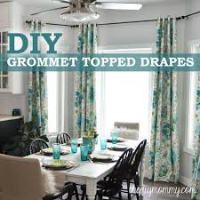 How To Measure Windows For Curtains by How To Make Unlined Diy Drapes With An Easy Grommet Top The Diy