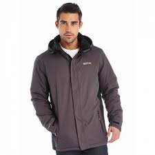 regatta mens thornridge waterproof jacket iron black 3xl grey