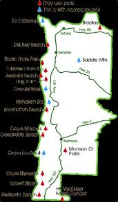 map of oregon state parks northern oregon coast state parks
