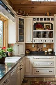 Log Cabin Kitchen Ideas Log Cabin Kitchen I The Distressed White Cabinets They Make