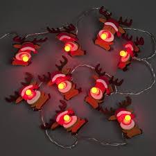 battery led christmas lights box of 10 felt reindeer battery led christmas lights led christmas