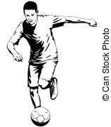 football or soccer player motion sketch studies hand drawn