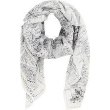World Map Sweden by Acne Studios Old World Sweden Map Scarf In White Lyst