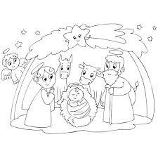 La crèche de Noël en coloriage à imprimer  Magicmamancom
