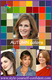 harmonise your hairstyle with your wardrobe to create an impact seasonal color analysis autumn