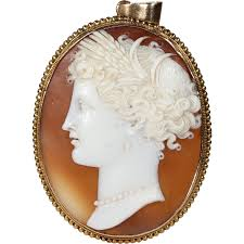 cameo gold necklace images Antique victorian cameo pendant of a lady gold frame victoria png