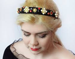 jeweled headbands jeweled headband etsy