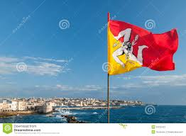 Sicillian Flag Flag Of Sicily Stock Image Image Of Yellow Sicily Square 54232421