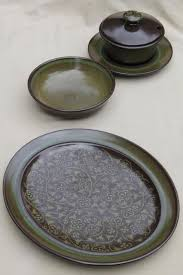 franciscan dishes mod 60s 70s vintage madeira franciscan pottery heavy retro brown