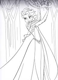 free printable queen elsa coloring pages disney frozen