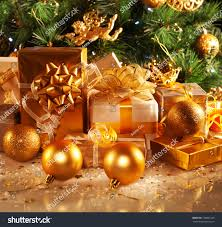 New Years Eve Tree Decorations by Photo Luxury Gift Boxes Under Christmas Stock Photo 120881305