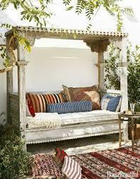 Outdoor Moroccan Furniture by Moroccan Inspired Garden Bench Garden Structures Pinterest