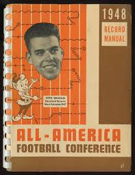 1948 all american football conference record manual aafc otto