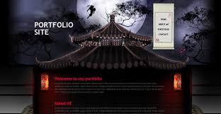 ninja assassin free portfolio template chocotemplates