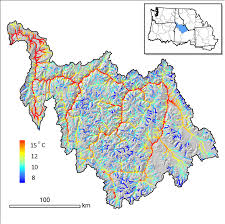 Oregon Temperature Map by A Regional Stream Temperature Model To Aid Climate Vulnerability