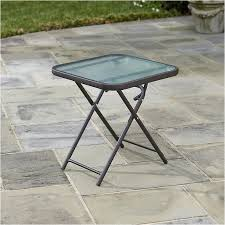 Small Metal Patio Side Tables Folding Metal Patio Side Table Home Outdoor Decoration