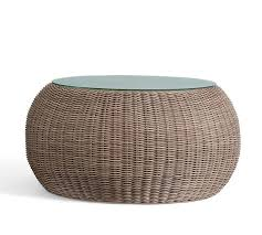 Pottery Barn Wicker Lovely Wicker Round Coffee Table Torrey All Weather Wicker Round