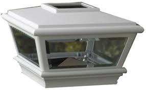 maine ornamental 254599 white solar led post light c4 5 x for ebay