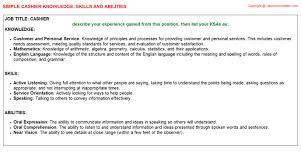 Skills For Cashier Resume Cashier Federal Resume Ksa