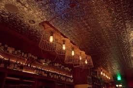 Tin Ceiling Lights Transporting New Gascon Wine Bar From Michelin Starred Chef The
