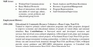 Volunteer Work Resume Example by Volunteer Skills For Resume Charity Resume Template Resume