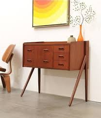 mid century entry table danish modern teak entry chest table credenza mid century eames mid