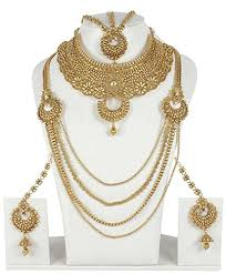 gold jewelry sets for weddings buy muchmore gold plated polki bridal necklace set indian wedding