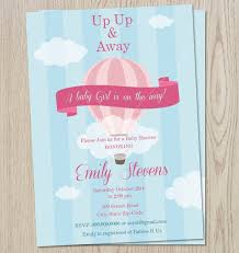 air balloon baby shower invitations christmanista
