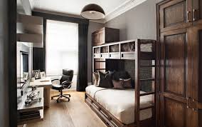 home office in bedroom small bedroom with bunk beds and home office home interior