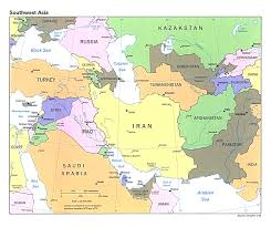 East Asia Political Map by Map Of Countries In Western Asia And The Middle East At Asia Map