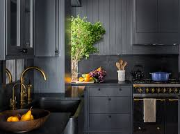 what color countertops go with cabinets how black became the kitchen s it color architectural digest
