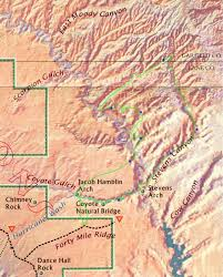 Escalante Utah Map by Escalante River Hike 2001