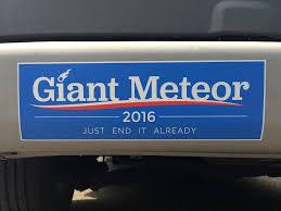 halloween car stickers amazon com giant meteor 2016 bumper sticker automotive