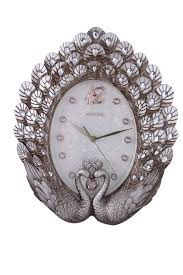 decorative clock european style peacock wall clock living room mute decorative