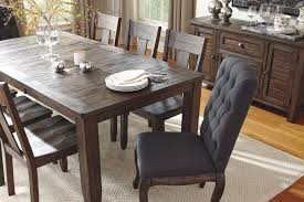 Wooden Dining Table Furniture 9 Piece Rectangular Dining Table Set With Upholstered Chairs