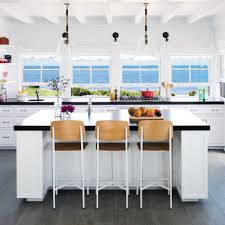 Pictures Of Kitchens With White Cabinets And Black Countertops 5 Star Beach House Kitchens Coastal Living