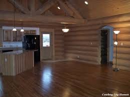 log home interior completed cowboy log homes