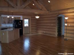 log home interior completed cowboy log homes