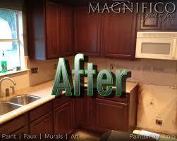 Refinishing Golden Oak Kitchen Cabinets Builder Grade Oak Cabinets Refinished Converted From Pickled Oak