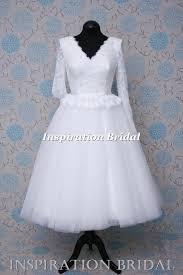 tea length wedding dresses uk 1591 uk knee tea calf length wedding dress vintage lace with